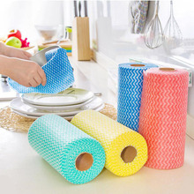 1 Reel Multipurpose Roll Towel Non-woven Fabric Cloth Wiping Cleaning for Home Kitchen Office Car Dishcloth Dish Cloth Cleaner(China)