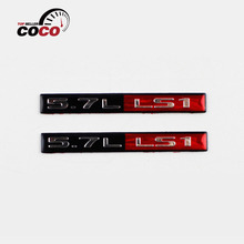 2pcs auto Racing Running Decal Continuity Sticker BLACK/RED/CHROME car styling 5.7L LS1 CAR ENGINE FENDER EMBLEM BADGE LOGO