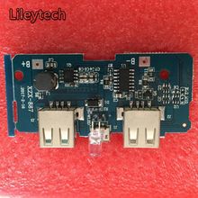 5PCs 5V 2A Power Bank Charger Module Charging Circuit Board Step Up Boost Power Supply Module 2A Dual USB Output 1A Input