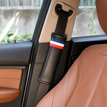 One Pc Car Seat Belt Padding Automobiles Interior Accessories PU Sponge Safety Belt Covers for Car Car-Styling Flag Car-covers