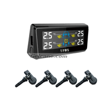 Seicane Auto Car tpms Tire Pressure Monitoring System With 4 Internal Sensor Solar Charge LCD Tire Pressure Display Monitor