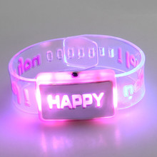 Glow Party Supplies LED Luminous Watches Flash Bracelet Strap Jewelry Personality Luminous Bracelet free shipping #202119