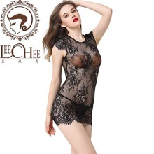 Buy Leechee Y009 women hot sexy lingeir temptation Teddy sexy erotic underwear lenceria sexo porn costumes+Fun lace skirt + T pants