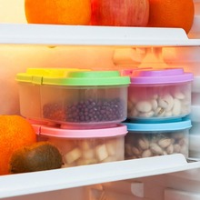Fresh Fruit Snacks Storage Plastic Kitchen Container Sauce Food Box Crisper 900ml Clamshell Refrigerator Preservation Sealed Box