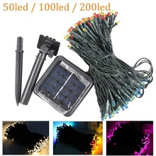 7m/12m/22M 200 LED Solar Lamps String Fairy Lights Solar Christmas Garlands Garden Wedding Party Decoration Outdoor Waterproof(China)