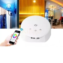 High quality Magic UFO RGB/RGBW WiFi LED Controller DC 12-24V for IOS and Android Software Group Control Function Music mode etc(China)