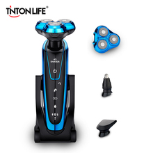 TINTON LIFE Men Washable Rechargeable Electric Shaver Electric Shaving Beard Machine Razor Rechargeable(China)
