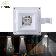T-SUNRISE 6 LED Solar Lamp Garden Gutter Light with Solar Panel LED Solar Light Street Light Eaves Lamps for Outdoor Lighting