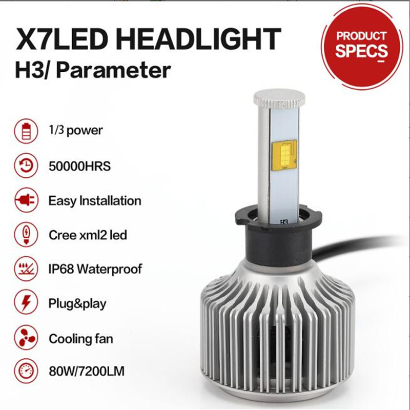 car light bulb external lights 80W 9600LM 9004 9007 h4 parking light h7 bulb Conversion Kit  led H3  H11 Super Bright Headlamp<br><br>Aliexpress