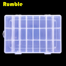 24 Grids Adjustable Plastic Storage DIY Tool Box Screws Spare Part Jewelry Earring Plastic Case Container