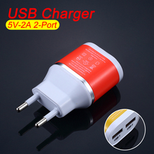 5V/2A Dual USB Travel Wall Charger EU Plug Smart Mobile Phone Charger for Samsung for Xiaomi for Mobile Phone USB Charger