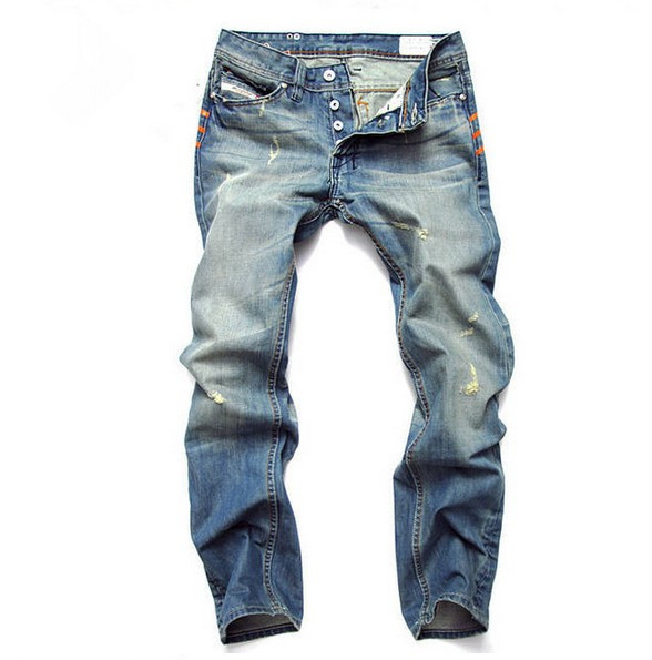 Uwback 2017 New Fashion Distressed Washed Jeans Men Casual Straight Denim Jeans Homme CAA295Одежда и ак�е��уары<br><br><br>Aliexpress