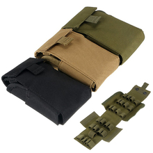 MAYITR Hunting Nylon 25 Round Fold Magazine Pouch Holder Tactical Carrier Pouch Ammo Shells Bag Army Green/Black/Khaki(China)