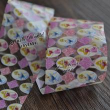 Beauty Golden Hair Princess Transfer Foil Nail Art Stickers For Nails DIY Decorations Tools S437
