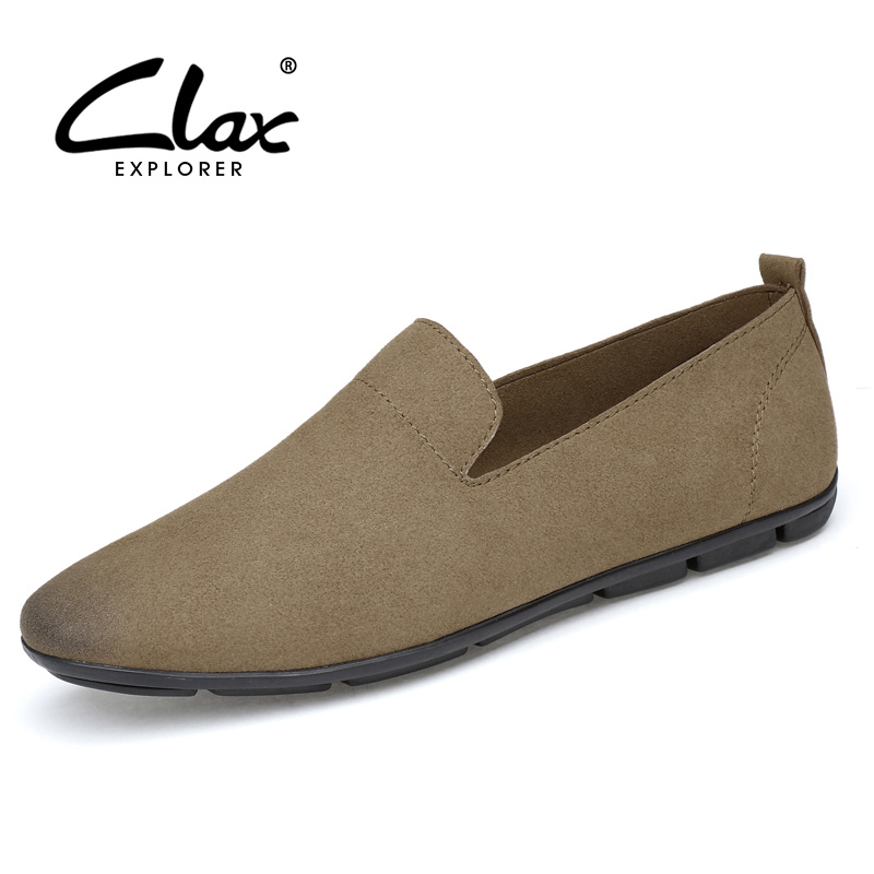 CLAX Mens Casual Shoes 2018 Spring Summer Fashion Flats Male Pu Leather Shoe Soft Loafer Walking Footwear Lightweight<br>