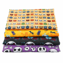 David accessories 50*145cm halloween patchwork Polyester cotton fabric for Tissue Kid Bedding home textile Sewing Tilda,1Yc472(China)