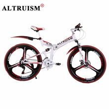 ALTRUISM X6 Mountain Bike Bicicleta 21 Speed Bicycle Bmx Steel 26 Inch Bisiklet Folding Bikes Double Disc Brake Bicycles(China)
