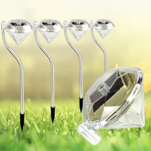 Solar Lawn Light Power Solar Diamond Shape LED Path Wall Landscape Mount Garden Fence Lamp Light Solar Garden Light