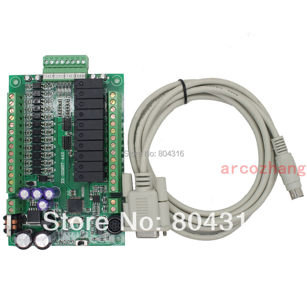 FX1S 22MR 4AD PLC controller board 12DI 10DO 4AI 4 Analog Input 4-20mA RS484 Modbus compatible <br>