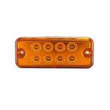 1pcs Amber Red Waterproof Brand New Side Marker Light Lamp Truck Trailer Lorry Caravan Waterproof 12V 24V 8 LED(China)