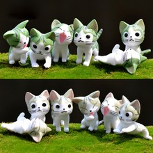 6pcs Miniature Chi's Sweet Home Toys Cute Cheese Cat  Japanese PVC Anime Cartoon Manga Figures For Kid/Child Succulents Potting