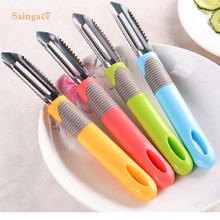 Saingace Multifunctional Potatoes Apple Fish Scales Peeling Nife PeelerVegetable And Fruits Cleaner Tools 1PC(China)
