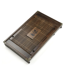 53.5*33*6cm Cheap small tea tray Ke wood solid trumpet drainage type drawer type tea tray wholesale customization(China)