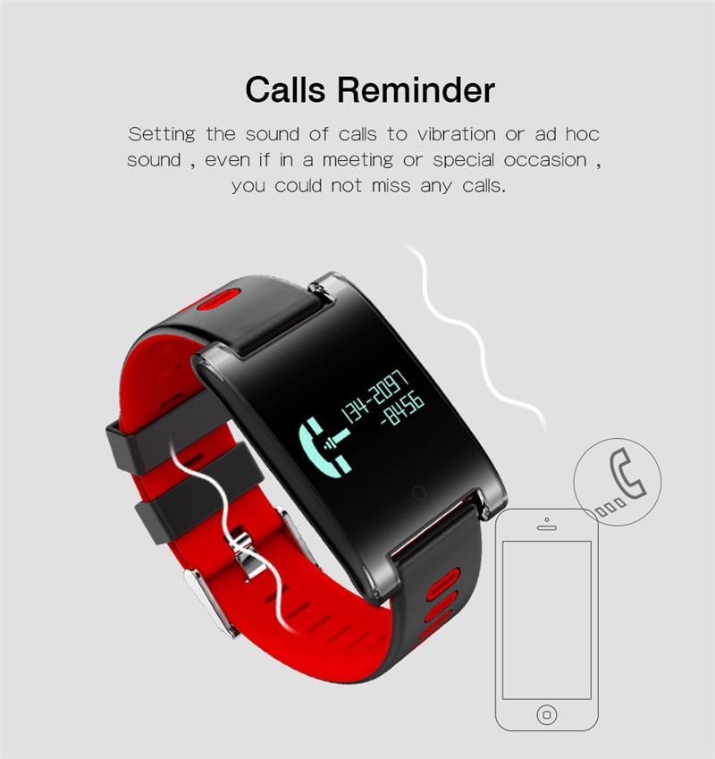 Interpad DM68 Plus Waterproof Smart Band Wristband Fitness Tracker Blood Pressure Heart Rate Monitor Calls Messages Watch