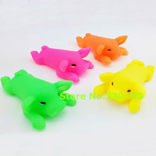 1pc Pet Dog Cat Puppy Sound Candy Colored Squeaky Rubber Screaming Pig Chewing Toys Piggy Pet Toy Dog Accessories