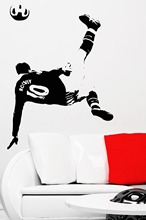 Art Design Cheap Home Decoration PVC Football Player Wall Sticker Removable Vinyl House Decor Soccer Sports Decals in Room