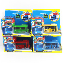 1 PCS Korean Cartoons Garage Tayo The Little Bus Model Children Mini Tayo Bus Baby Pull Back Car Christmas Gift Oyuncak