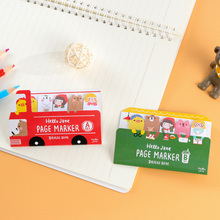 Cartoon animal bus memo pad paper sticker post it sticky notes kawaii stationery school supplies papelaria