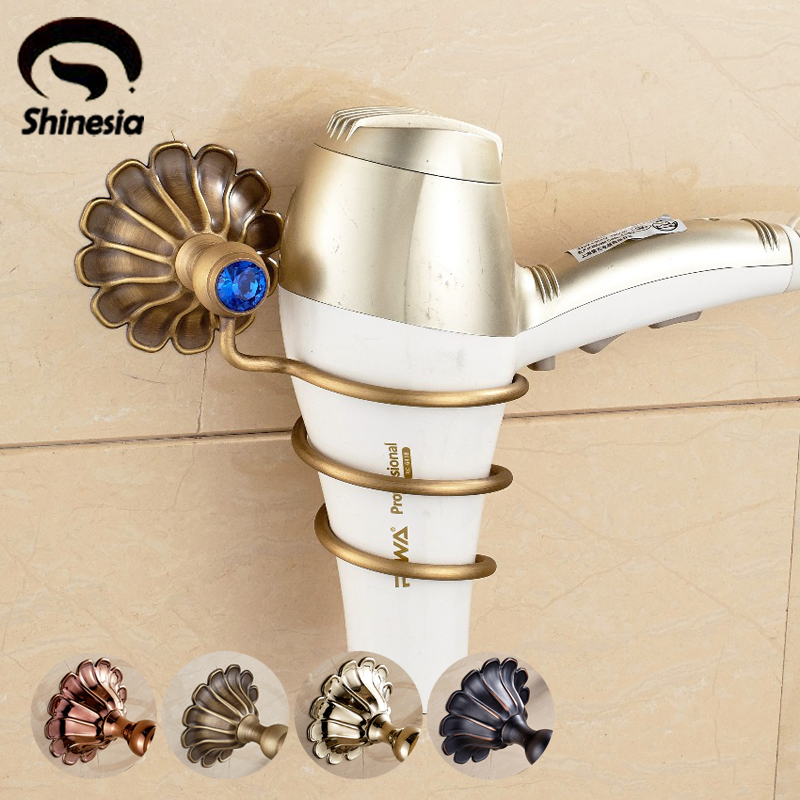 NOOLIM Suction Cup Hair Dryer Rack Wall Mounted Bathroom