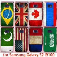 Hard Phone Cases For Samsung Galaxy SII I9100 4.3 inch S2 GT-I9100 Case National Flags Back Cover Skin Shell Housing Sheath Bags
