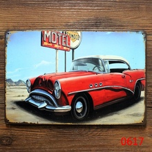 Motel signs vintage metal tin plate wall decoration for home garage club bar cafe pub