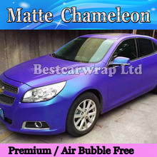 Matte Chameleon Metallic Purple / blue Vinyl Car Wrap Film With Air Bubble Free CAST Car Vehicle Styling foil 1.52x20m/Roll(China)