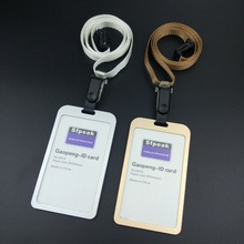 High-grade, Aluminum Alloy, card sets, durable. The cards, ID badges and lanyard, hanging clamp, double side visible,