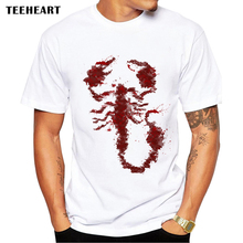 New 2017 Summer Fashion Little Scorpion Design T Shirt Men's High Quality Tops Hipster Tees O neck pa760(China)