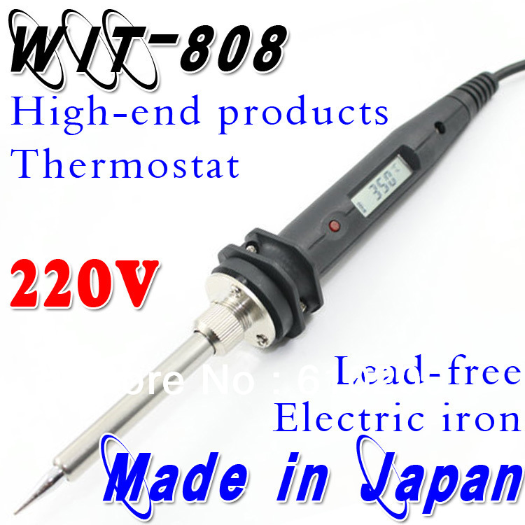 110V or 220V WIT808 Temperature Thermostatic Adjustable Lead-free Electric Soldering  Welding Tool Substitute Soldering station<br>