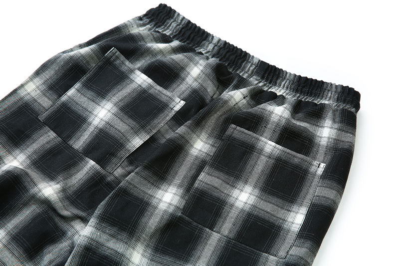Side Ribbon Plaid Pants 14