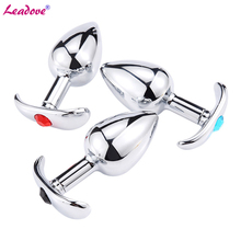 Buy Medium Size Metal Anchor Anal Toy Butt Plug Anal Booty Beads Stainless Steel Crystal Jewelry Anal Sex Toys Adult GS-RY130-M