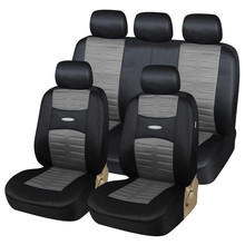 AUTOYOUTH Full Set Car Seat Covers Airbag Compatible Universal Fit 3D Air Mesh Fabric Classic Car Accessories Car-Styling
