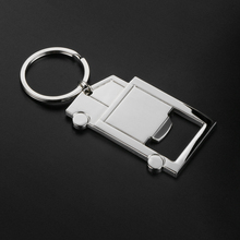 Truck Model Key Rings Holder Car Keychain with Beer Bottle Opener for VW Ford BMW Toyota Honda Audi Lada Nissan Kia Mazda(China)