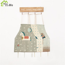 40x50cm Children Kitchen Aprons London Horse Pattern Linen Chef Kids Housework Apron Home Textile