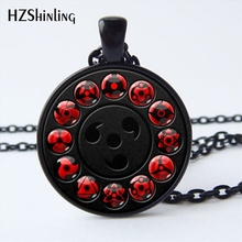 NS-00782 New Glass Naruto Shippuden Pendant Necklace Round Naruto Sharingan Eye Chain Necklaces Vintage Jewelry for Women HZ1