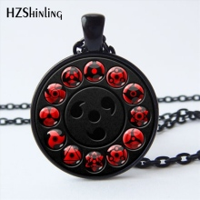 Buy NS-00782 New Glass Naruto Shippuden Pendant Necklace Round Naruto Sharingan Eye Chain Necklaces Vintage Jewelry Women HZ1 for $1.13 in AliExpress store