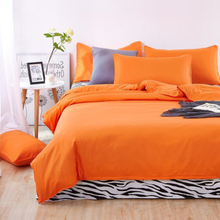 Orange Bedding set 3/4pcs Duvet cover sets bed linen Bed sets include Duvet Cover Bed sheet Pillowcase Queen full twin size