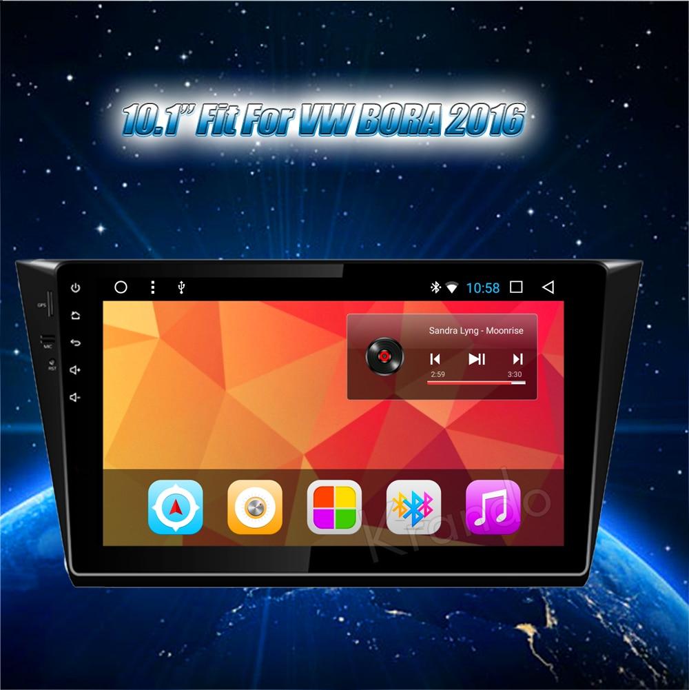 Krando Android car radio gps navigation multimedia system for VW BORA 2016