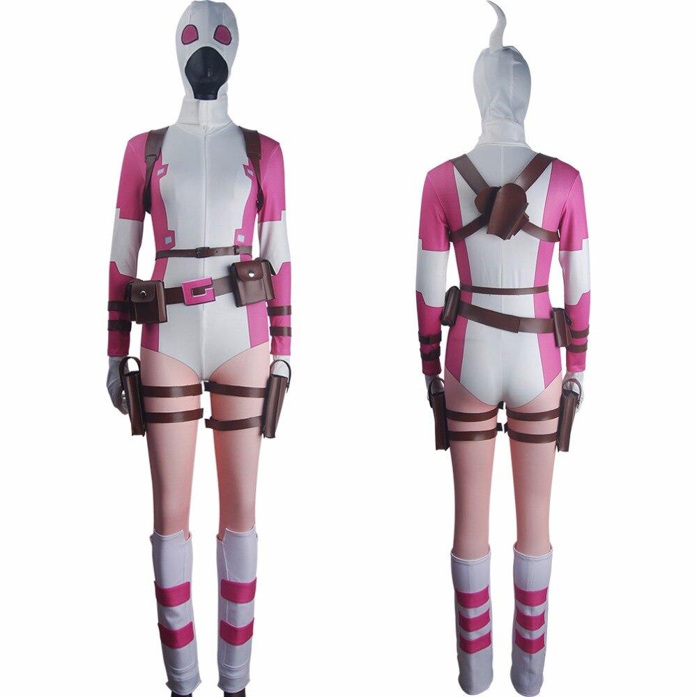 Women Spider-Woman Gwen Stacy suit hoodie jumpsuit Halloween costume X/'mas gift