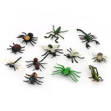 ABWE Best Sale Children's toys insect animal model set 12 pcs Multicolor(China)